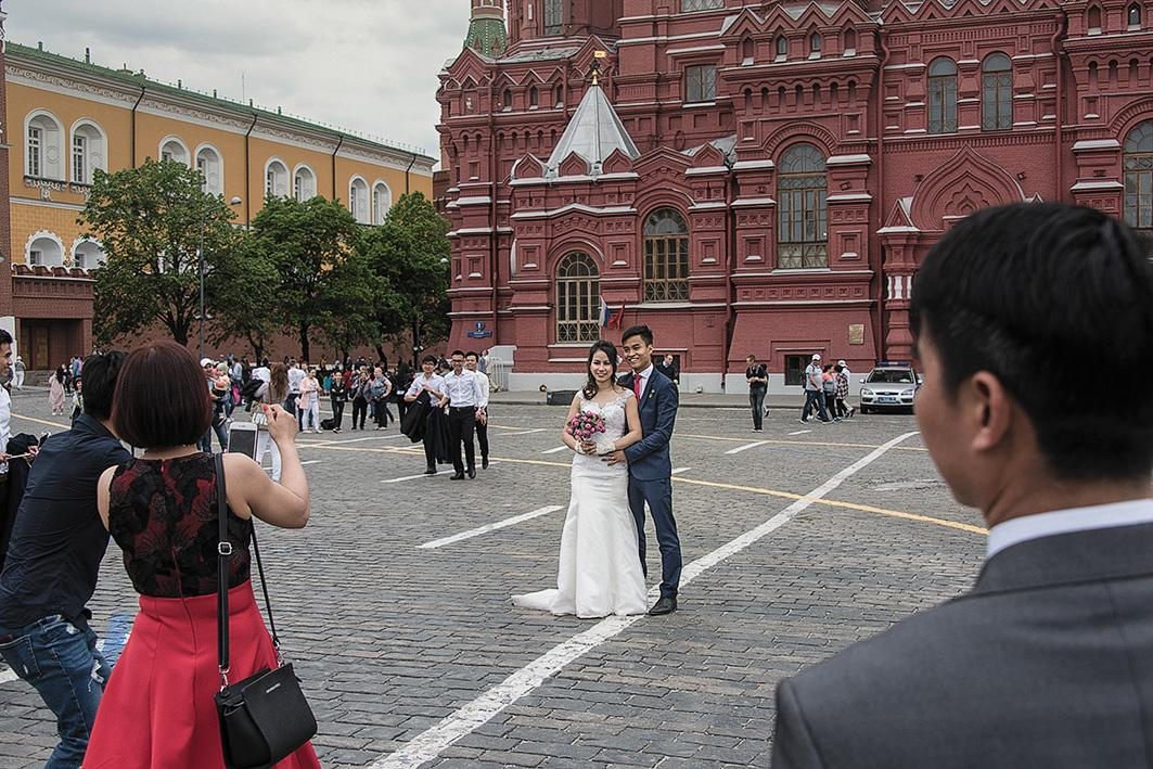 Historical sites are popular with newlyweds