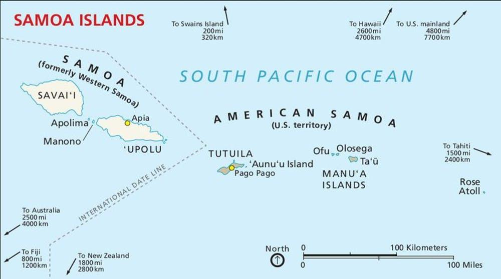 American Samoa is a U.S. territory covering seven islands in the South Pacific.