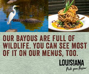 Our Bayous Are Full of Wildlife. You Can See Most of It ON Our Menus, Too.