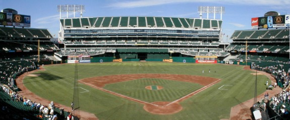 The O.co Coliseum in Oakland