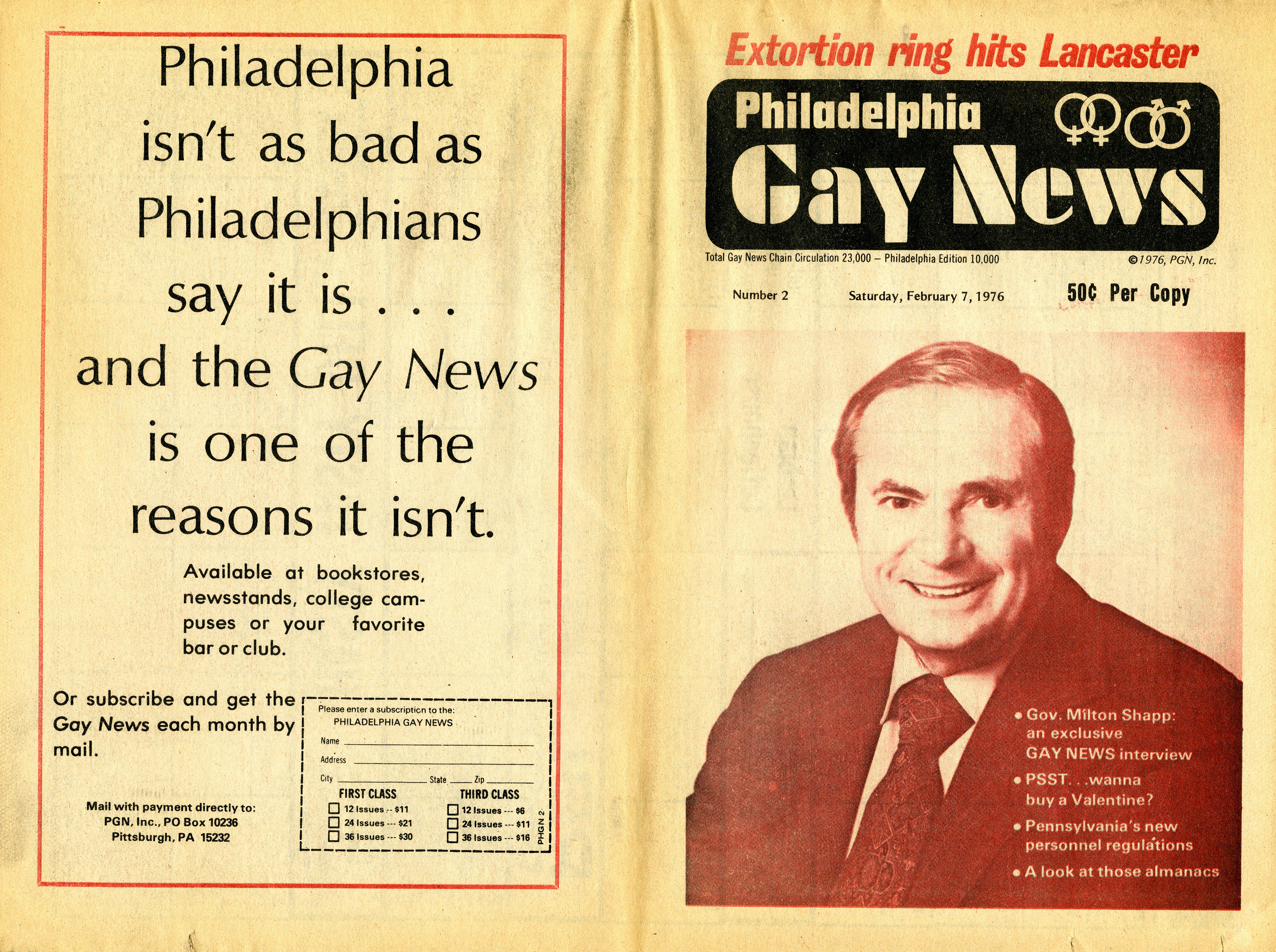 Segal, Philadelphia Gay News