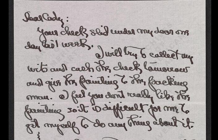 Georgia O'Keeffe Letter