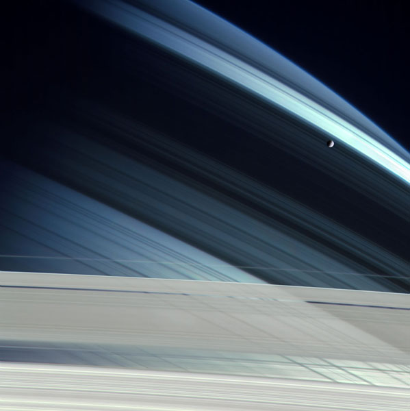 Saturn with Mimas
