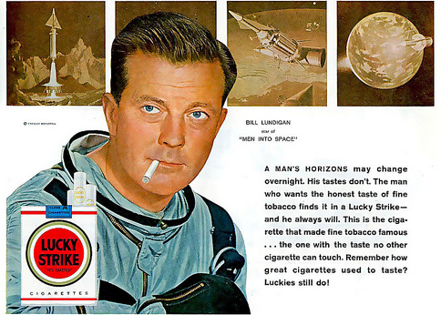 astronaut smoking ad