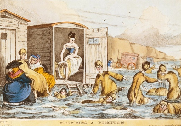 """Mermaids at Brighton"" by William Heath (1795 - 1840), c. 1829"