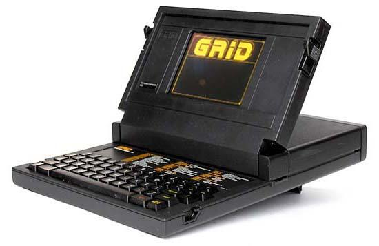 The first laptop, GRiD Compass, designed by Bill Moggridge and released in 1982