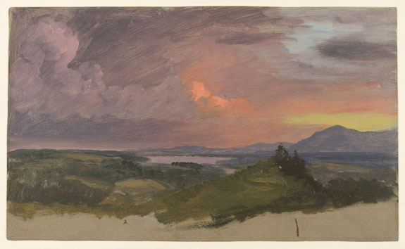 Sunset in the Hudson Valley, by Frederic Edwin Church.