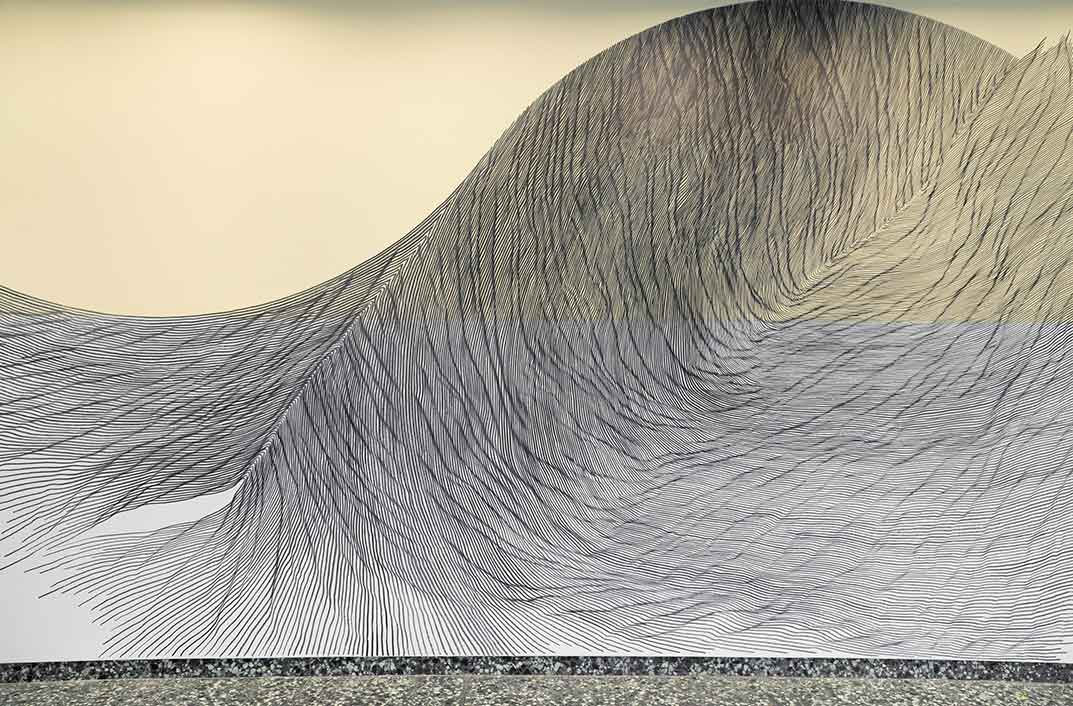 Our View From Here, Linn Meyers, 2016