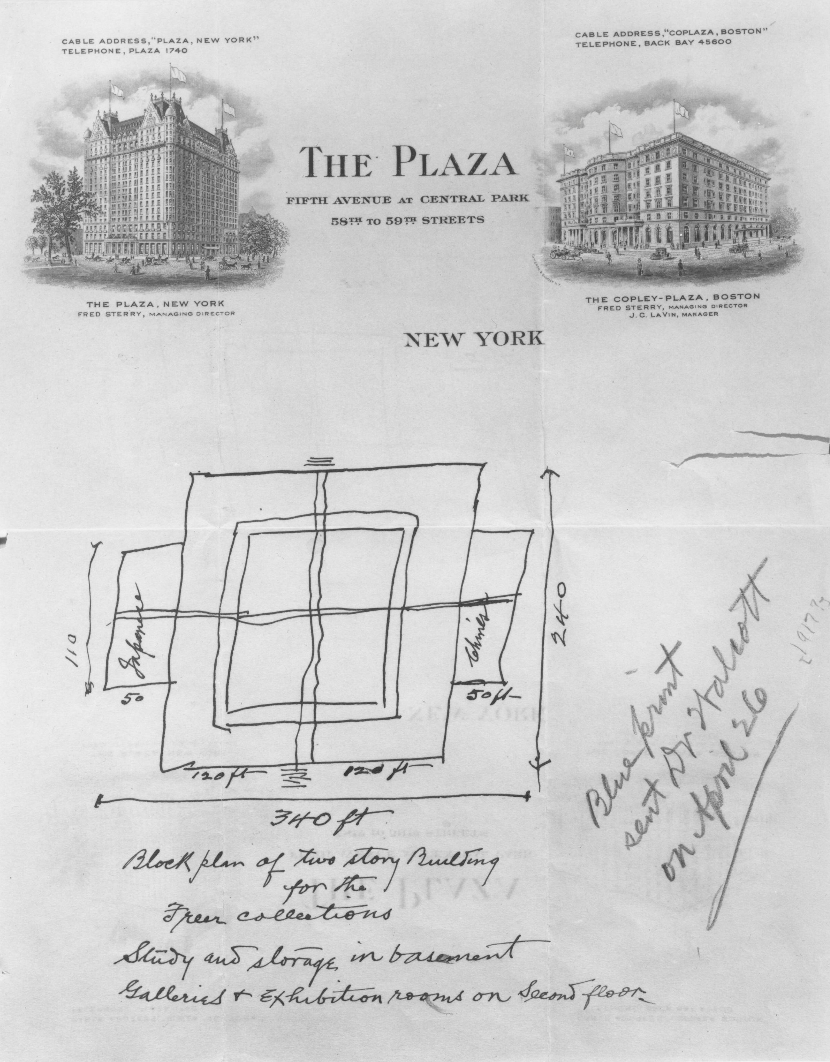 Freer's sketch
