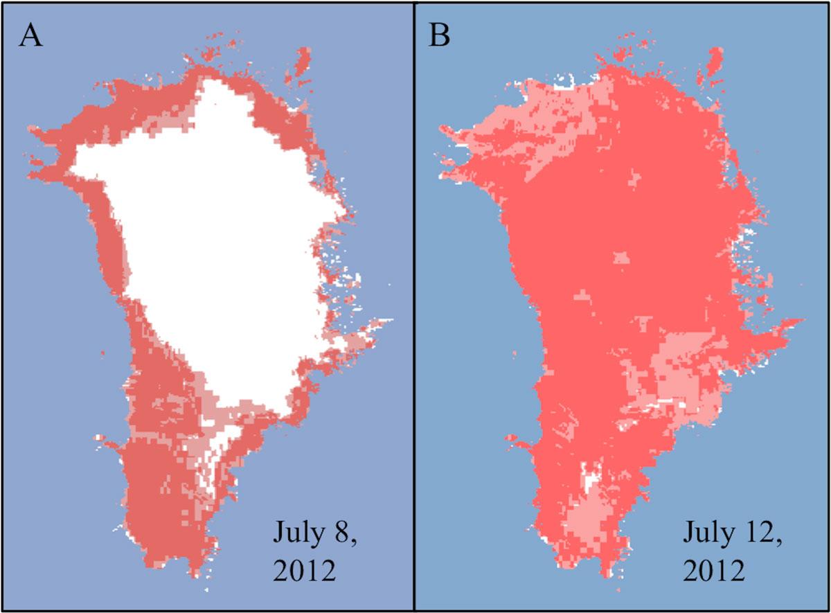Greeland melt 2012