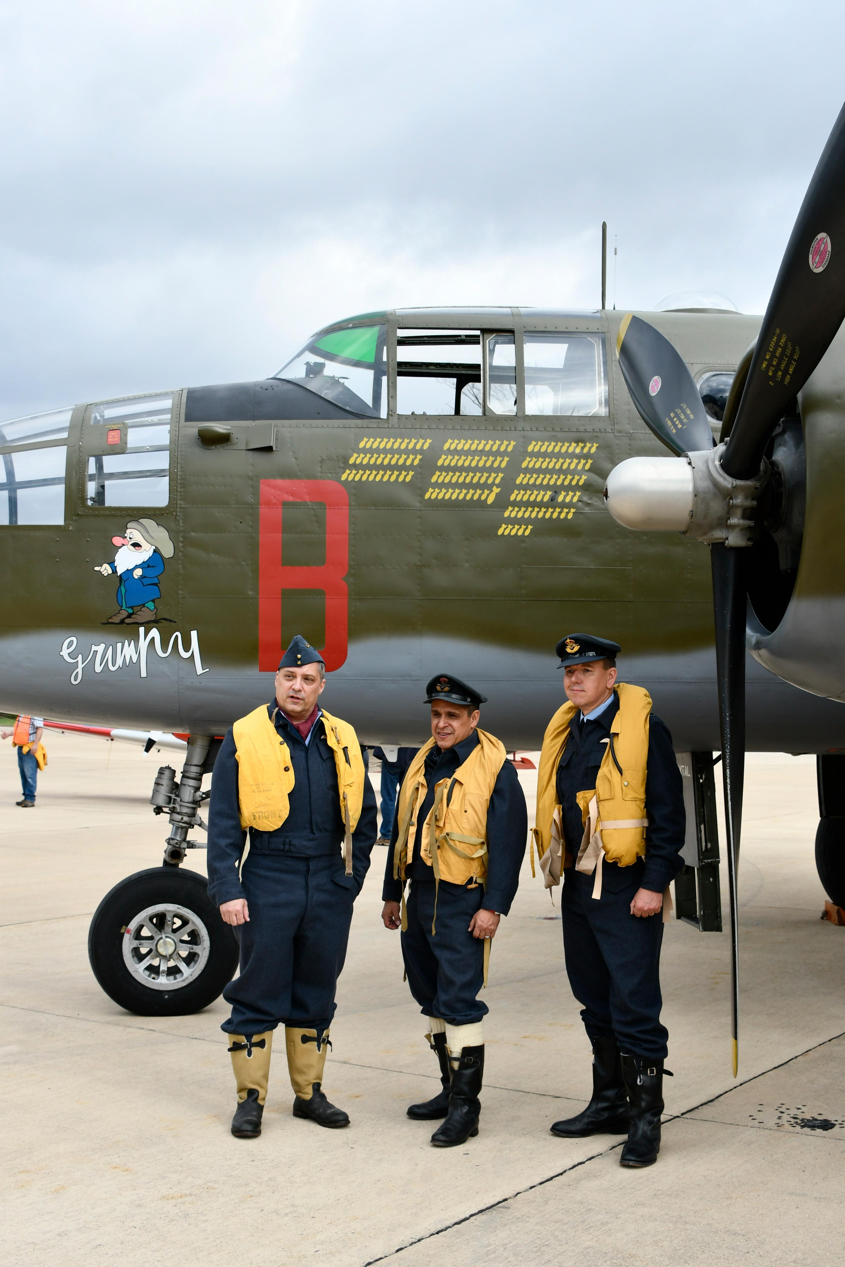 Reenactors in RAF duds