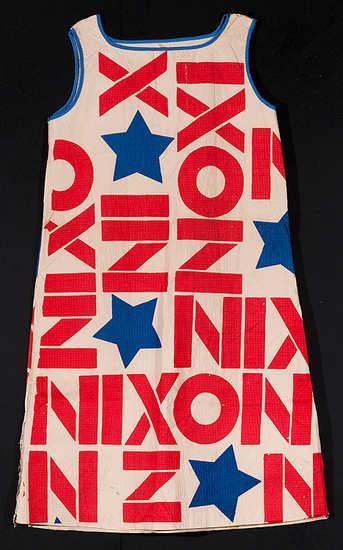 Nixon paper dress, 1968.