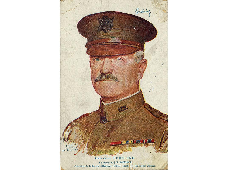 Postcard, John J. Pershing