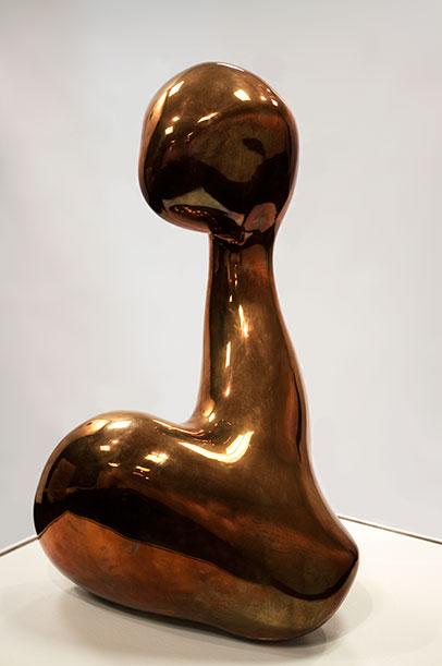 Jean (Hans) Arp, Consiente de sa Beauté (Conscious of Her Beauty), 1957, polished bronze.