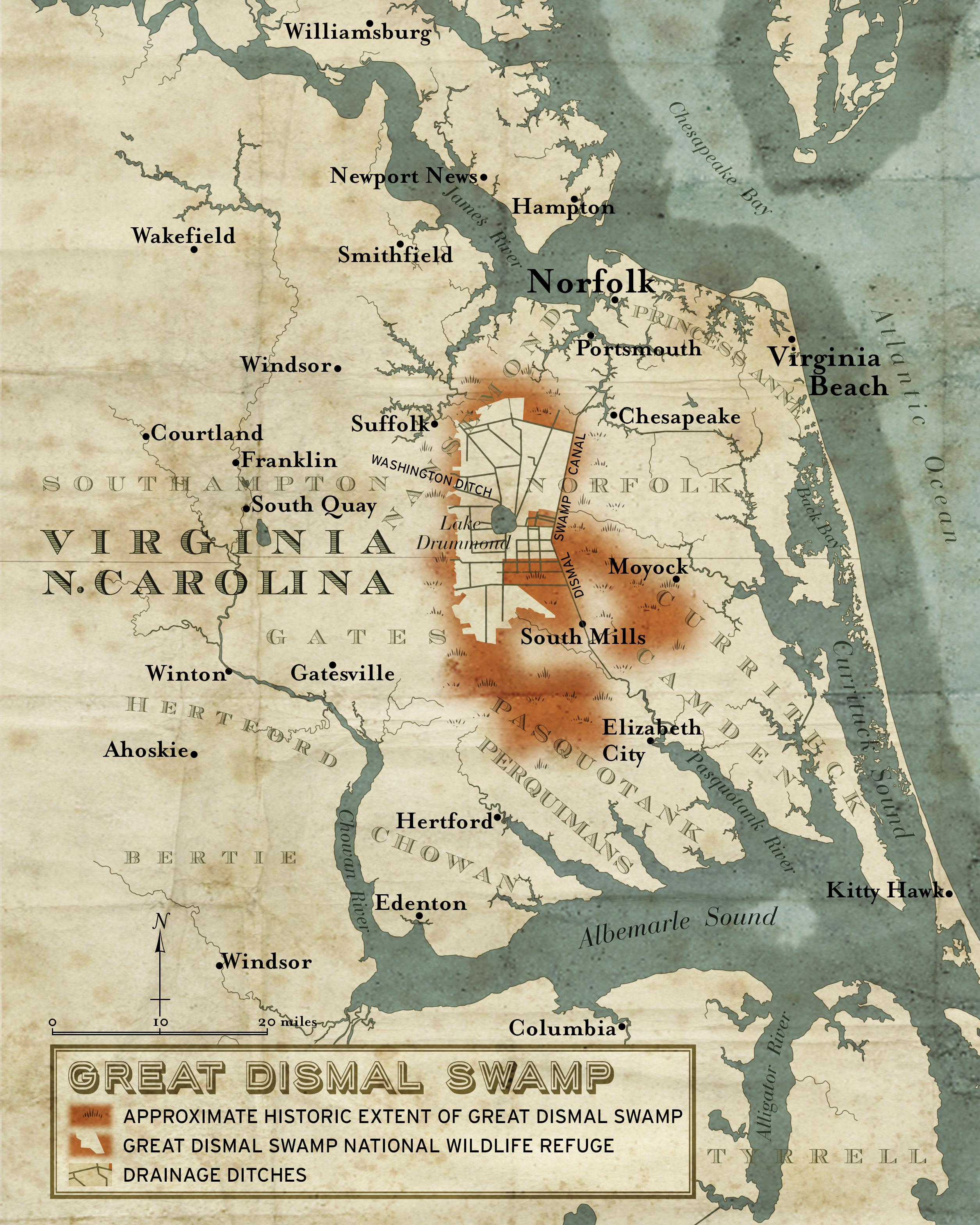 Great Dismal Swamp Historical Map