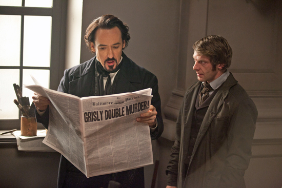 John Cusack and Samuel Hazeldine in Relativity Media's The Raven