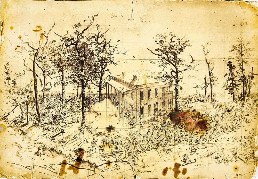 1886 Cyclorama sketch