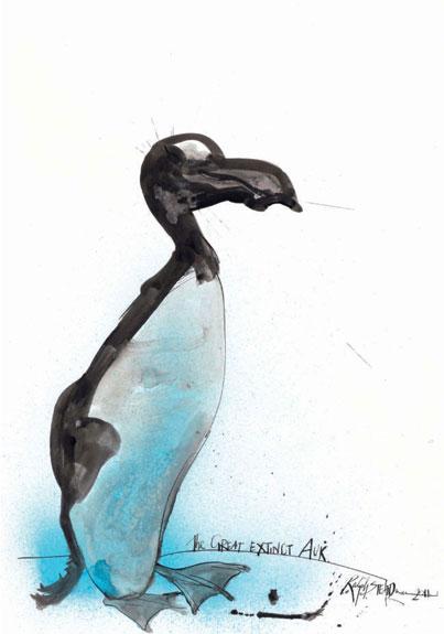 Great Auk, by Ralph Steadman
