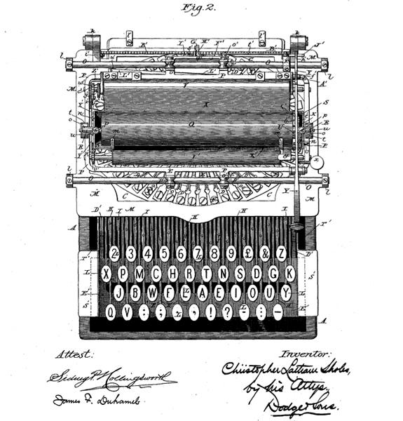 U.S. Patent No. 568,630, issued to C.L. Sholes after his death