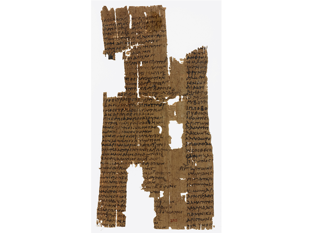 Ancient list on Papyrus