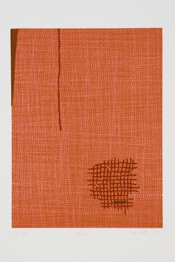 Marie Watt, Mend, 2005. Woodcut on paper