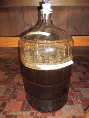 The beer in the early stages of fermenting