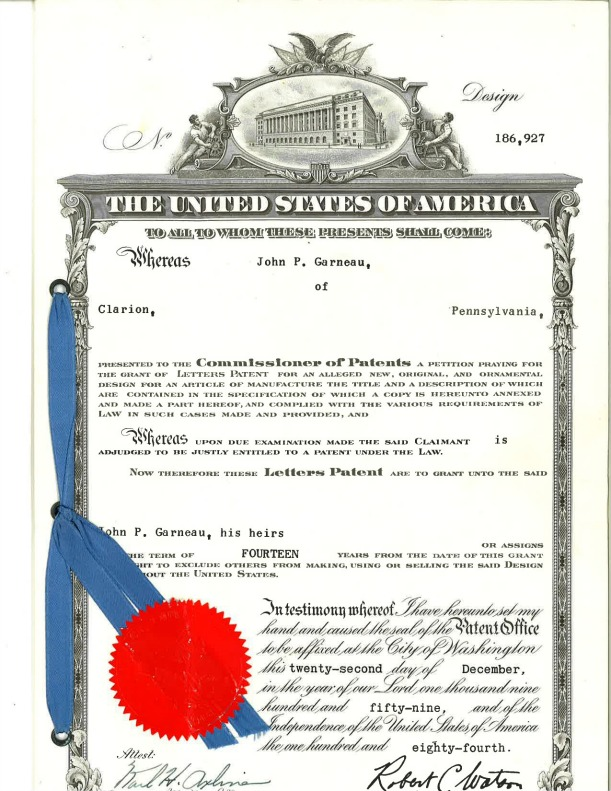 A scan of the original patent filed in 1959.