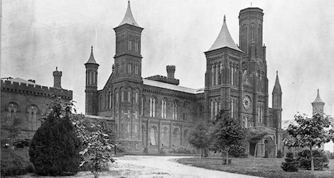 View of the north facade of the Castle, circa 1860.