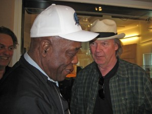 Jonathan Demme, Buddy Guy and Neil Young at WNYC