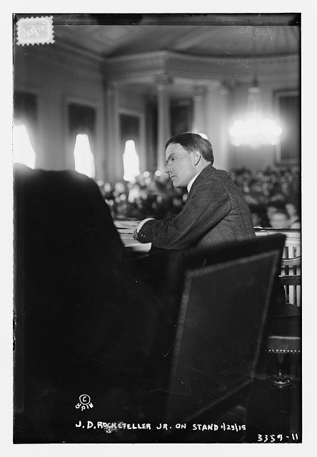 J.D. Rockefeller, Jr. on stand