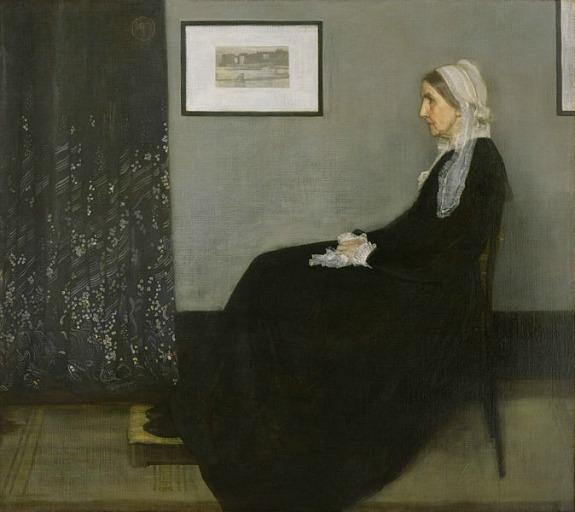 Whistler's Mother (Arrangement in Grey and Black No.1), 1871, James McNeill Whistler.