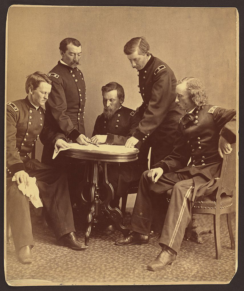 Generals examine document