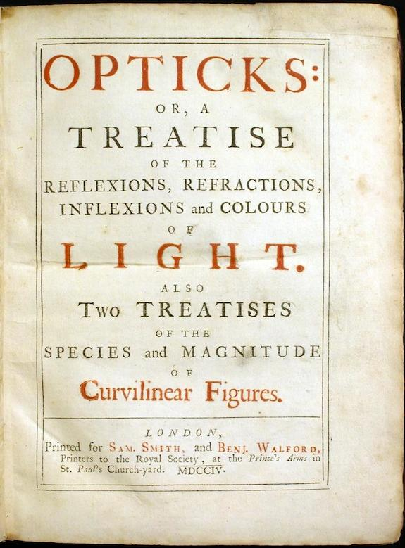 Newton's book, Opticks
