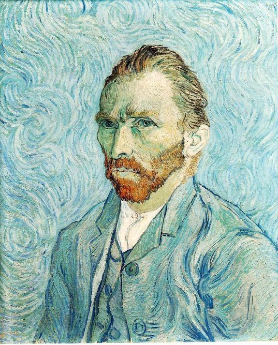Self-Portrait, 1889; Vincent van Gogh; Musee d'Orsay, Paris
