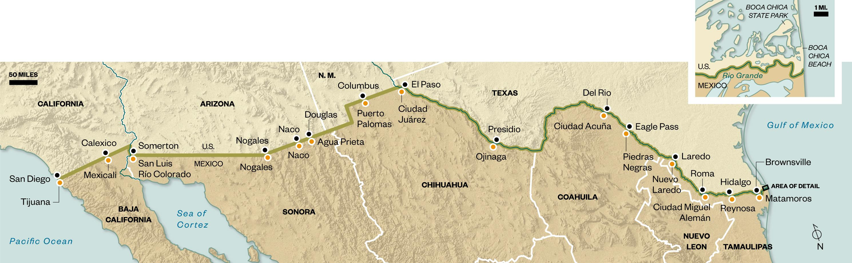 Myth And Reason On The Mexican Border Travel Smithsonian - Us border fence map