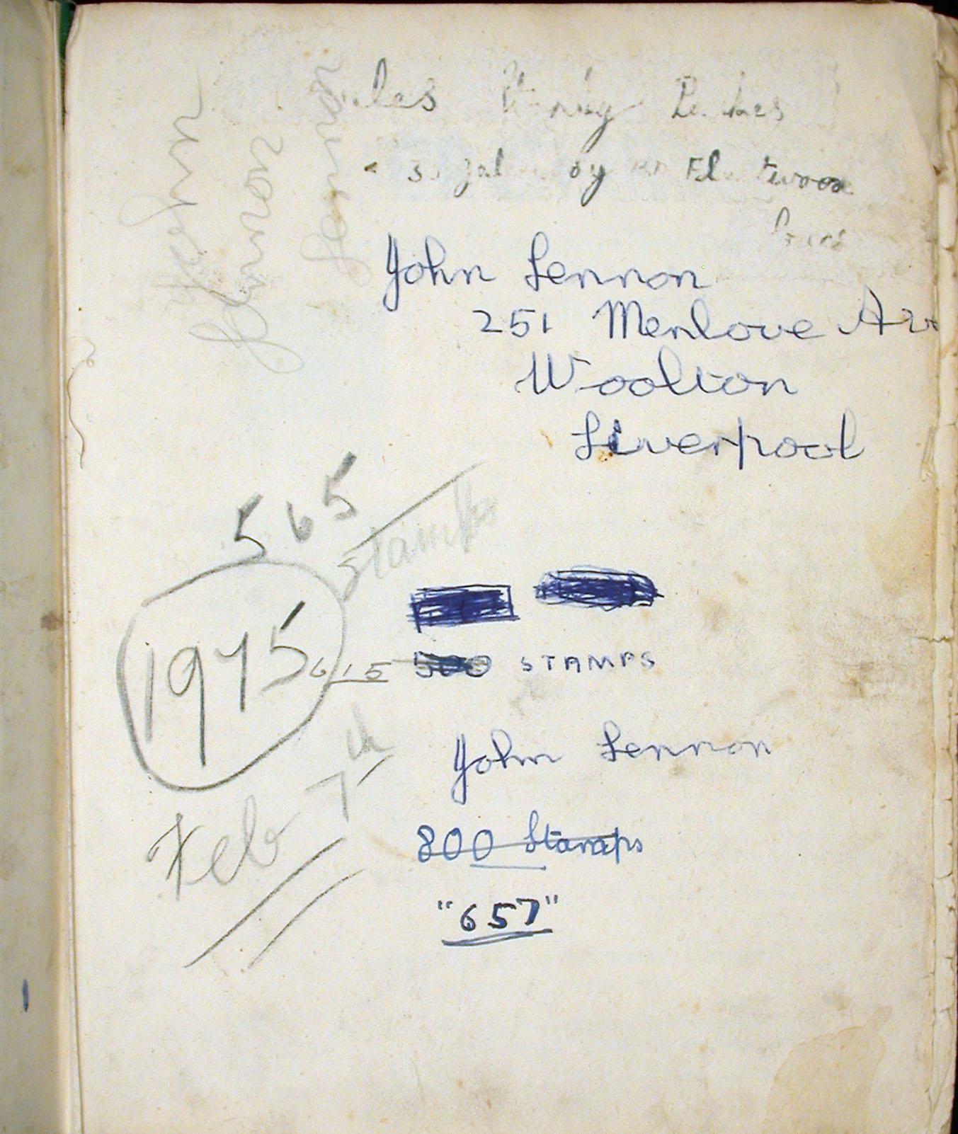 Front Page, John Lennon Stamp Album