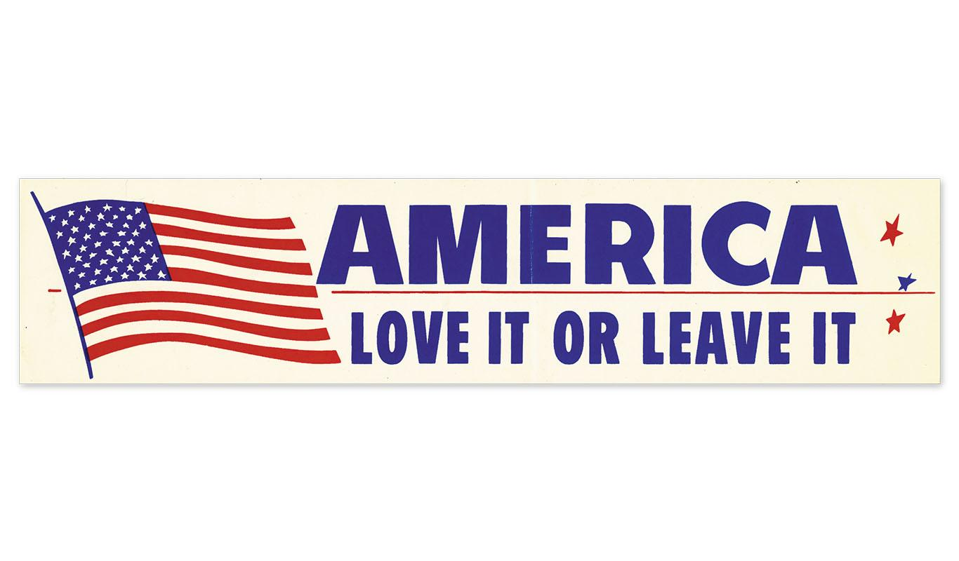 America: Love It or Leave It