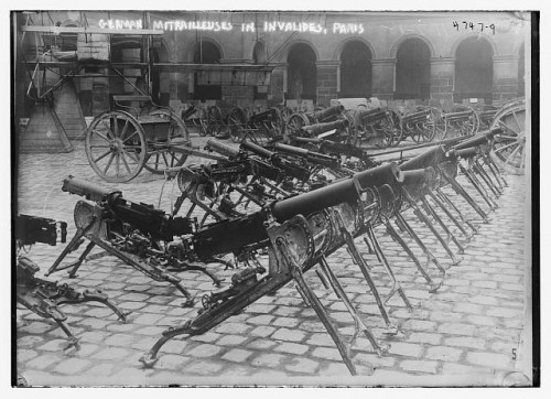 German weaponry in Les Invalides, Paris