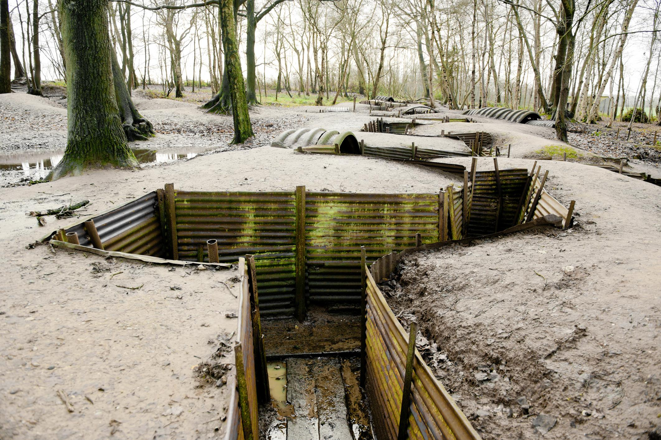 WWI Trenches, Sanctuary Wood, Ypres, Belgium
