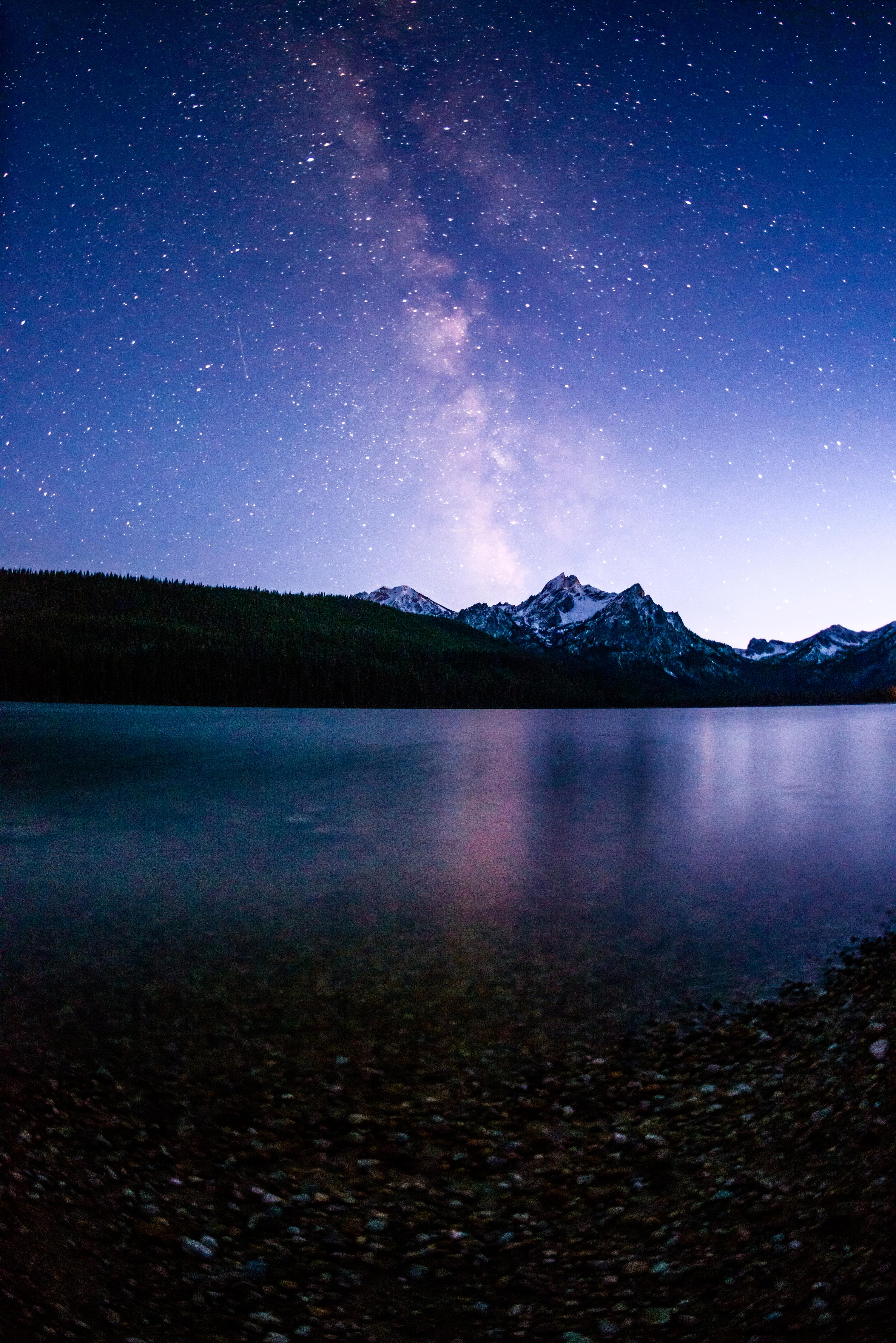 Stanley Lake at night