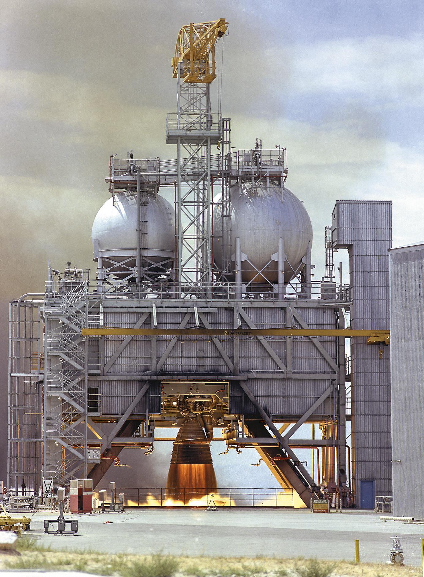 Rocketdyne's kerosene-burning F-1 engine