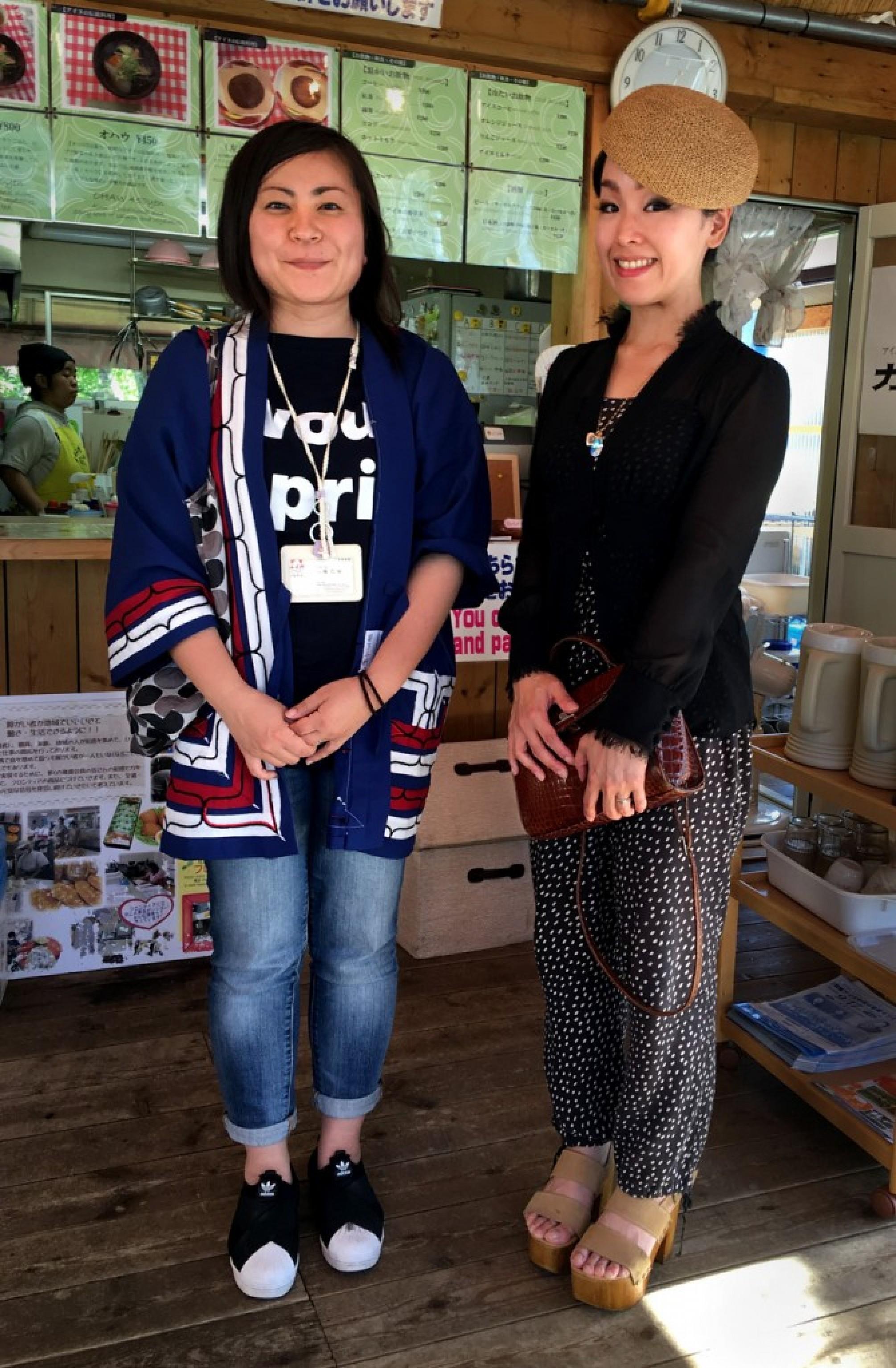 Tomoe Yahata and Mai Ishihara