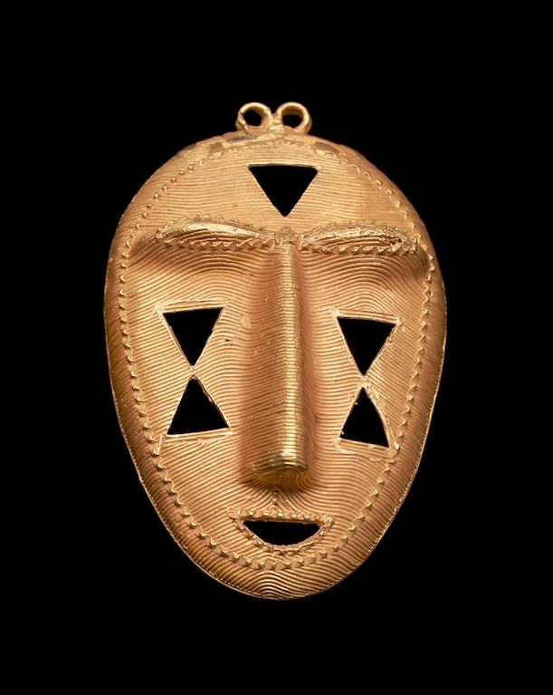 A gold pendant of the Kyaman peoples, Ivory Coast, bequest of Eliot Elisofon