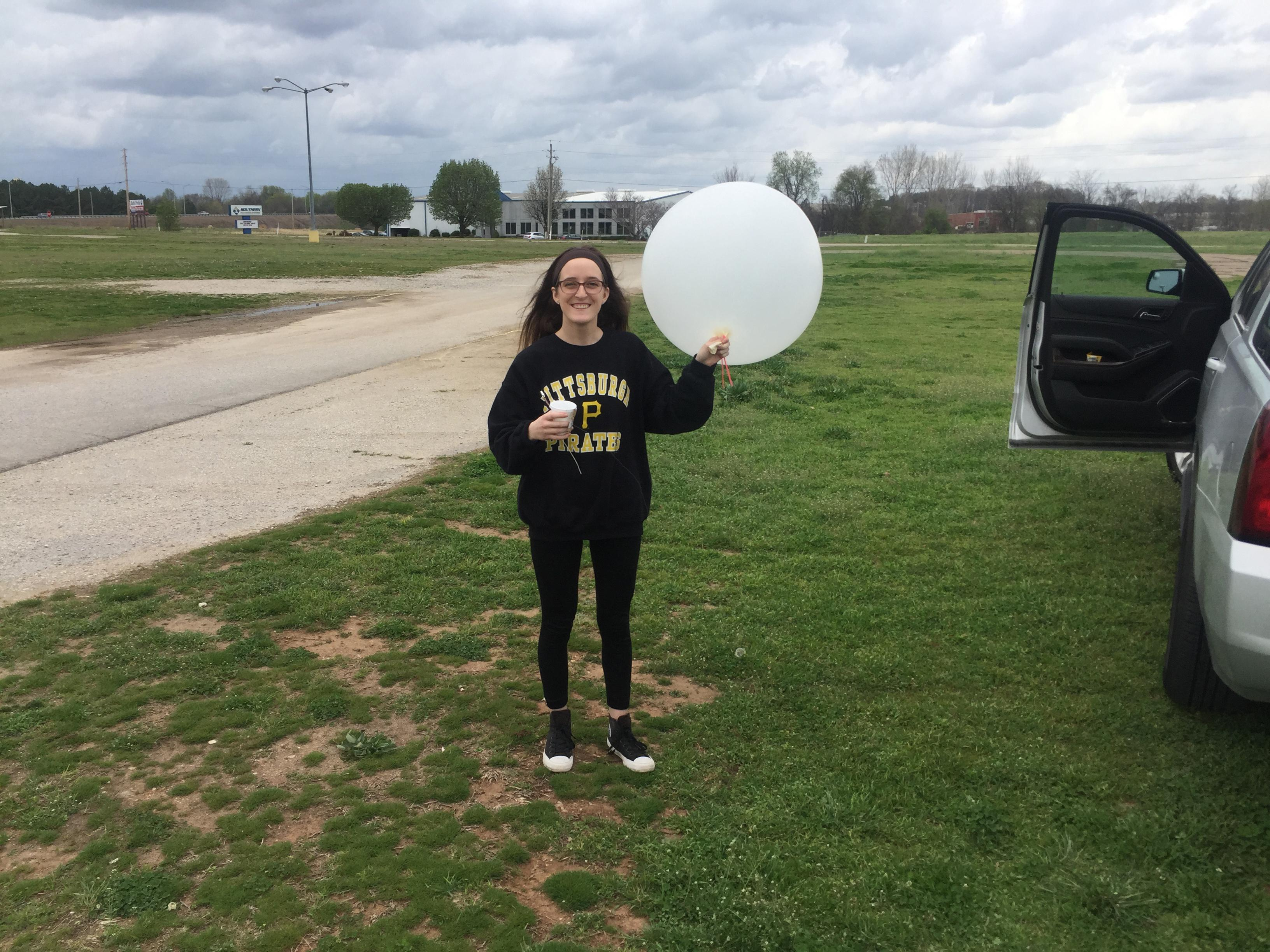 Jessica Bozell studies tornado formation at Purdue University.