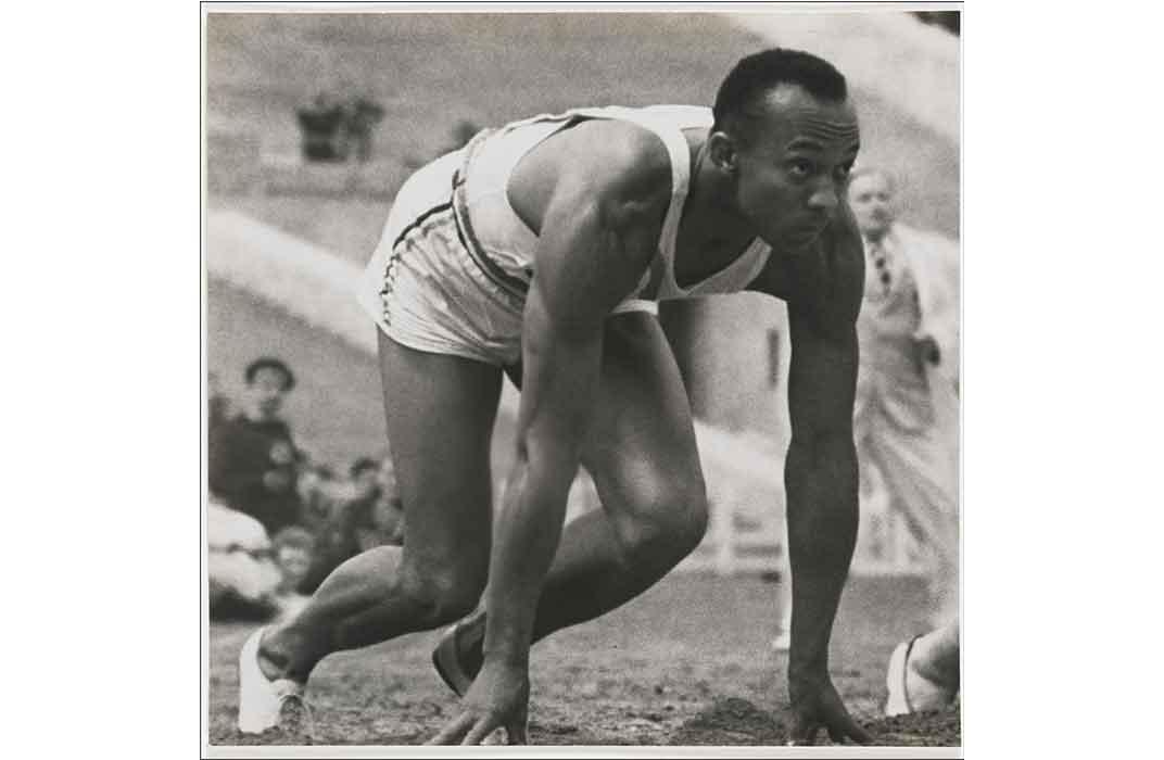 Jesse Owens by Leni Riefenstahl, gelatin silver print, 1936