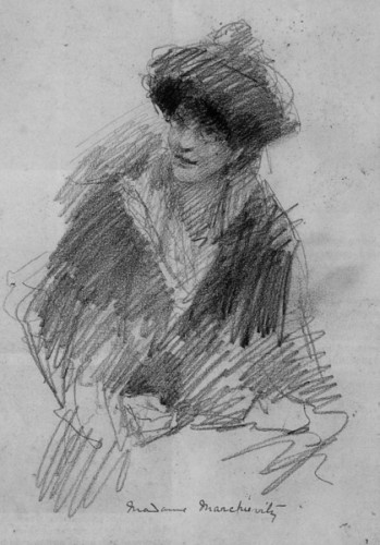 A sketch of Constance Gore-Booth by W.B. Yeats