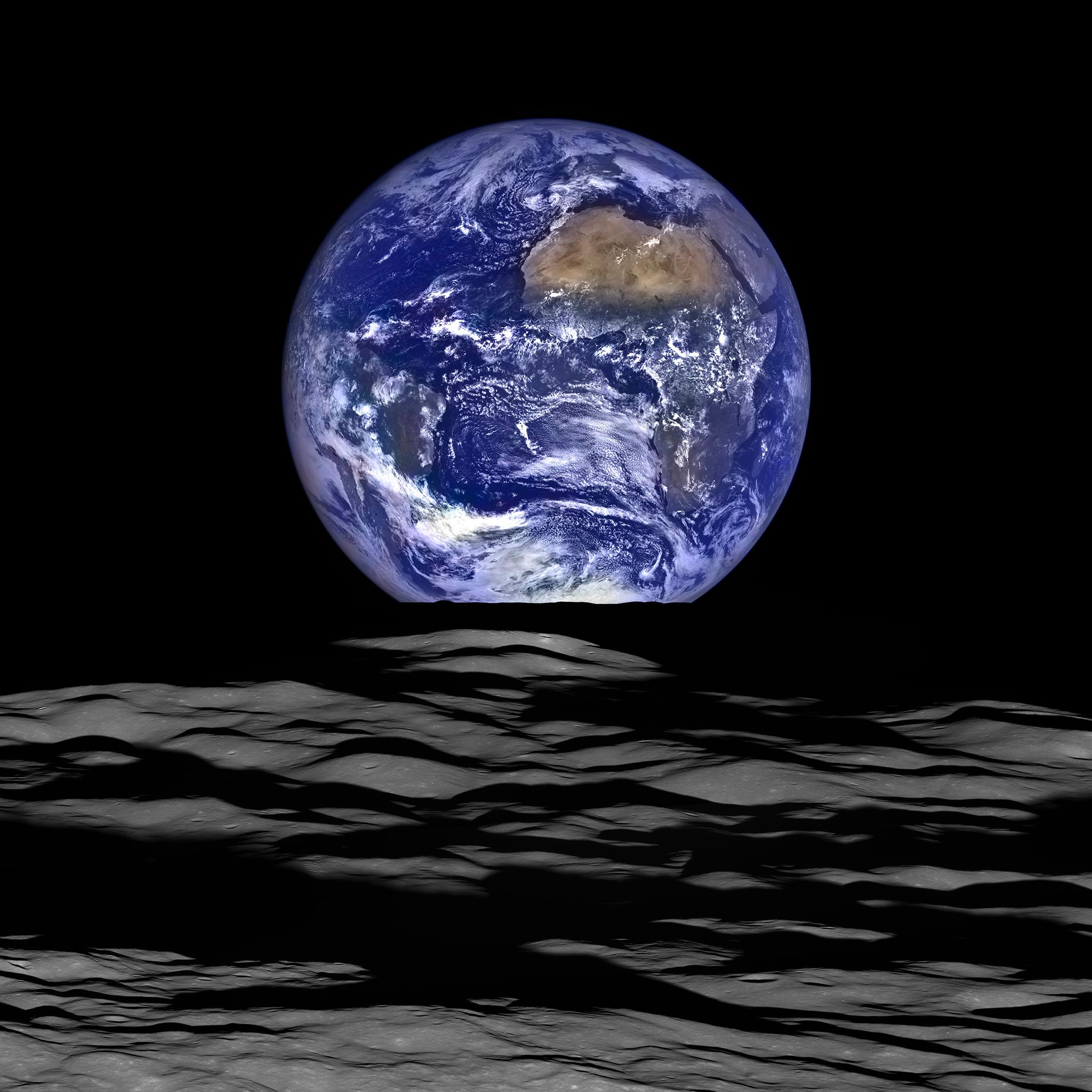 Earth from the Moon 2015