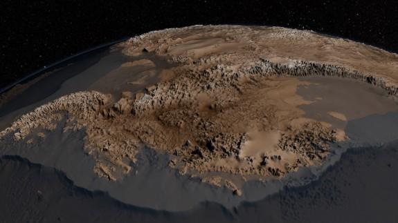 The topography of Antarctica