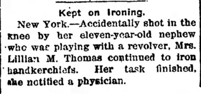 Ironing Gun Accident