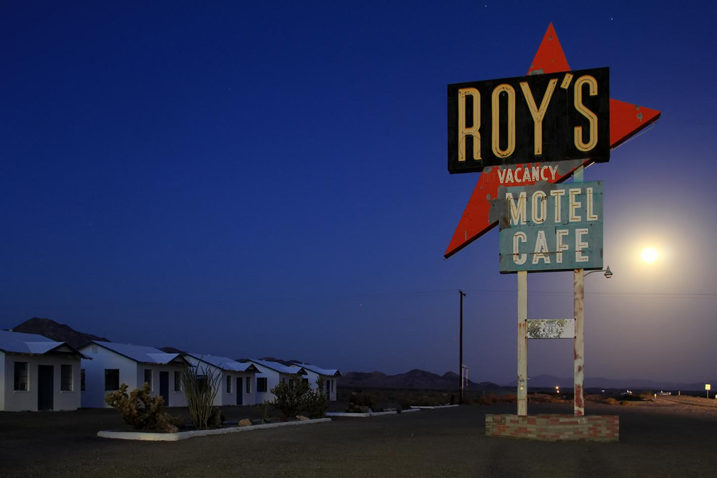 Roy's Motel and Cafe in Amboy, California, along Route 66
